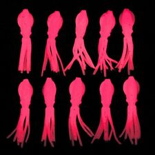 B-2 SQUIDS FISHING LURES B2 SQUID BODIES GLOW PINK FLUKE SEABASS
