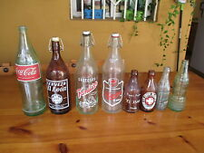 COLECCION DE BOTELLAS DE CRISTAL ANTIGUAS / COLLECTION OF ANTIQUE GLASS BOTTLES