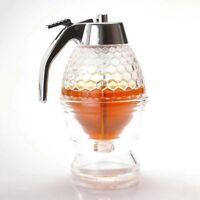 200ML Honigspender Jar Container Topf Saft Honig Kamm Drip Flasche Neu F3W7