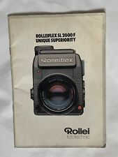 Rolleiflex SL2000F, A5 Booklet/Brochure