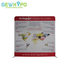 10ft*10ft Size Portable Fabric Pop Up Display Wall With One Side Printed Banner