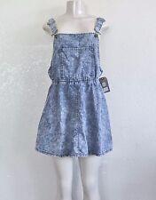 Element Women's Ramble Denim Jumper Mini Dress – Lt. Blue sz M