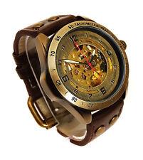 Reloj Pulsera 45mm Bronce Esqueleto Automático escala taquimétrica Estilo Vintage Bronce