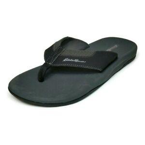 Eddie Bauer Men's Break Point Flip Flop Sandals Size 10, Black NEW
