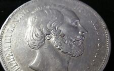 RARE 1872 NETHERLANDS KING WILLEM 2 1/2 GULDEN SILVER CROWN