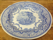"""Spode Blue Room Collection England 1 Dinner Plate Continental Views White 10.5"""""""