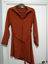 Apricot Orange Rust Colour Blouse Size 12