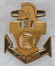 Insigne 1945 Indochine 72° BCG BATAILLON COLONIAL du GENIE Local CEYLAN ORIGINAL