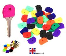 3 x RUBBER KEY CAPS Coloured Plastic Covers Top Cap Cover Tag Door Identifier UK