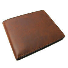 Genuine Leather Men's Bifold Wallet Brown Ideal Gift HEN04
