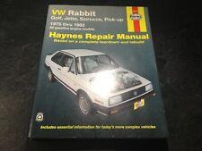 1975-1992 VW Rabbit Cabrio A2 Golf Scirocco Pickup GTI Jetta Haynes Shop Manual