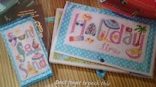 Cross stitch chart-Holiday Time & Viaggi Set-VACANZE & Sun Sea & Sand-NUOVO