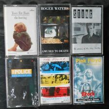 Lotto 6 Musicassette Police - Sting - Tears for fears - Waters - Pink Floyd