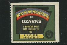 "USA early Arkansas ""Ozarks"" Rainbow Poster Label"