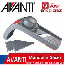 NEW AVANTI Folding Mandolin Slicer with 5 Cutting Blades and Storage Box RRP $50