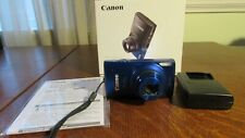 Canon PowerShot ELPH 170 IS Blue w/ Charger, Battery, SD Card, Strap - In Box