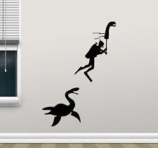 Loch Ness Monster Diver Wall Decal Vinyl Sticker Funny Poster Art Decor 140crt