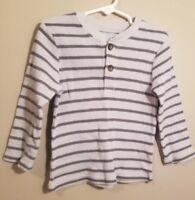 Garanimals Toddler Boys Long Sleeve Gray Striped Thermal T-Shirt Size 3T