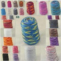 Sale 500gr NEW Knitting Cone Yarn Chunky Hand woven Colorful Soft Wool Cashmere