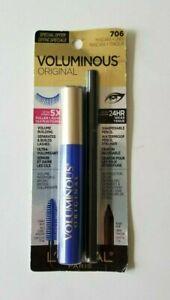 L'Oreal Voluminous Original Mascara + Eyeliner Waterproof ~ 706 Cobalt Blue NEW!