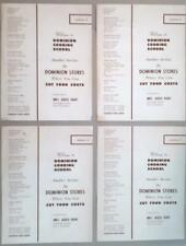 Vintage DOMINION Cooking School recipe leaflets grocery store advertising