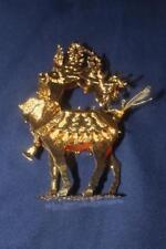 "Danbury Mint 23 Kt Gold Pltd Christmas Ornament 1993 3-D Reindeer 4""X "" X 1"""