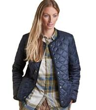 Barbour Liddesdale Quilted Jacket Coat 14-16 UK Lightweight Navy Blue £169