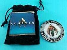 Loot Crate Aquaman Black Manta Coin and Velvet Bag NEW DC comics Justice league