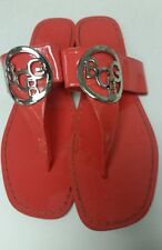 8e76bc005 BCBG Paris Women s 9.5 Coral Patent Leather Thong Sandals GUC