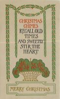 Arts Crafts Christmas Saying Everett C-1910 postcard 13322