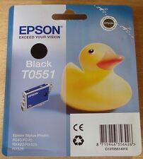 Genuine EPSON T0551 TO551 cartouche noire vide scellé original canard oem encre