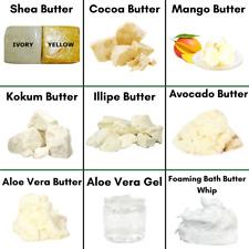 TOP SELLING BUTTERS / WHIPS Aloe Cocoa Illipe Kokum Mango Shea Foaming Bath Bulk