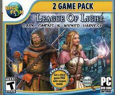 LEAGUE OF LIGHT: DARK OMENS + WICKED HARVEST Hidden Object PC Game NEW + Bonus