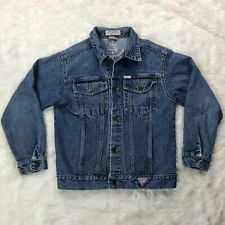 Vtg Guess Georges Marciano Jean Jacket Womens Sz Medium Blue