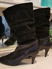 Vintage Black Tarantino's Slouch Boots~ Women's 6-1/2 ~ Made in Spain