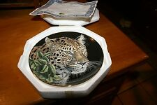 "Nib W/Certifcate Collectable Plate - ""Lord Of The Night"" By Jeanine Nahra Royal"