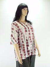Tunika Shirt A Form Bordeaux grau weiß Batik Muster one size 48 50 52 54  Neu  w