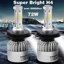 2X 8000LM 72W H4 S2 COB LED Light Headlight Car Hi/Lo Beam Bulb Kit 6500k White