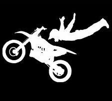 Super Motocross No Hands Stunt Dirt Bike Vinyl Decal Sticker Car Truck Window