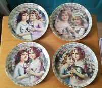 """Four 1998 Bradford Exchange """"My Sister, My Friend"""" Numbered Plates, Issue 1 to 4"""