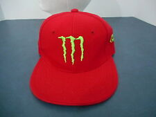 Monster Ball Cap Hat  Red with Embroidery Small Size Fitted