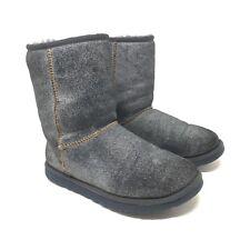 UGG Australia Damen Stiefelette Gr. 37 Winter Boots Blau Grau Classic Cuff Short