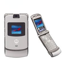 Motorola Razr V3 Gsm Quad Band Flip Unlocked RefurbishedNew Mobile Phone