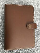 FILOFAX Personal Organiser A5 The Original Retro Brown Leather EXCELLENT COND
