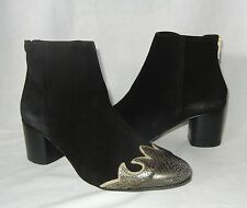 Free People Women's Adele Leather Rear Zip Ankle Boot Retail $180 size 6