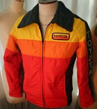 Vintage TOYOTA Toyotaline Color Stripe Jacket Men's S