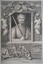 1730s ENGRAVING KING WILLIAM 1 BY GEORGE VIRTUE FROM RAPIN'S HISTORY OF ENGLAND