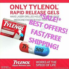 24 COUNT NEW TYLENOL RAPID RELEASE EXTRA STRENGTH GELCAPS, 500 MG FREE SHIPPING!