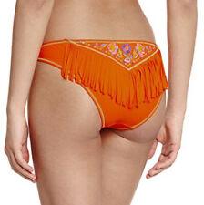 Banana Moon Bikini Bottoms with fringe embroidered Brief Orange Size 38 UK 10