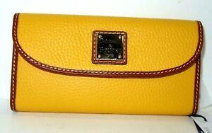 Dooney & Bourke dandelion Pebble Grain Leather Continental Clutch Wallet NWT$138
